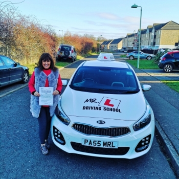 Congratulations to Gillie More from Newmarket who passed in Cambridge on the 28-1-19 after taking driving lessons with MR.L Driving School.