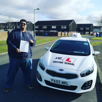 Congratulations to Michael Warin from Mildenhall who passed 1st time in Cambridge with just 3df´s on the 11-2-19 after taking driving lessons with MR.L Driving School.