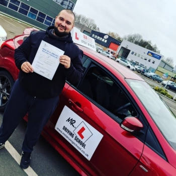 Congratulations to Andrei Tudor who passed in Cambridge on the 21-2-18 after taking driving lessons with MR.L Driving School.