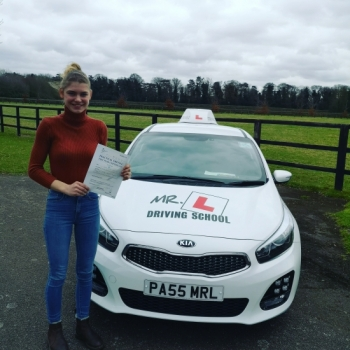 Congratulations to Meg Case from Newmarket who passed 1st time with just 2 driving faults in Cambridge on the 7-3-19 after taking driving lessons with MR.L Driving School.