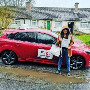 Congratulations to Olga from Kirtling near Newmarket who passed in Cambridge on the 14-3-19 after taking driving lessons with MR.L Driving School.