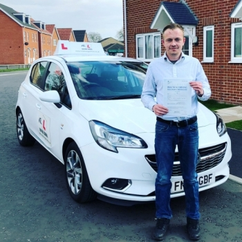 Congratulations to Shane Parker from Beck Row who passed his extended driving test in Cambridge on the 28-3-19 after taking driving lessons with MR.L Driving School.