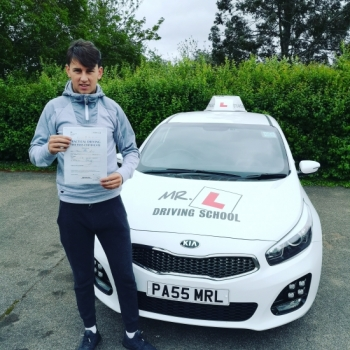 Congratulations to Josh from Newmarket who passed in Cambridge on the 27-4-19 after taking driving lessons with MR.L Driving School.