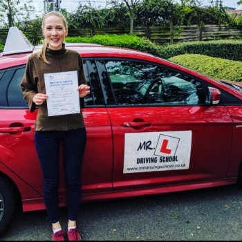 Congratulations to Hannah Bland who passed in Cambridge on the 30-4-19 after taking driving lessons with MR.L Driving School.