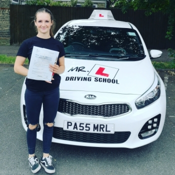 Congratulations to Lauren Hall from Newmarket who passed her driving test in Cambridge on the 11-7-19 after taking driving lessons with MR.L Driving School.