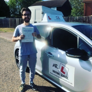 Congratulations to Rodrigo Silva from Newmarket who passed in Cambridge on the 18-9-19 after taking driving lessons with MR.L Driving School.