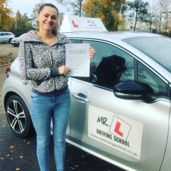 Congratulations to Alexandra Mihaela Raicu who  passed first time in Cambridge on the 22-11-19 after taking driving lessons with MR.L Driving School.
