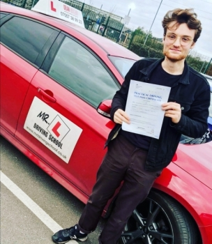Congratulations to Zachary who passed in Cambridge on the 2-1-20 after taking driving lessons with MR.L Driving School.