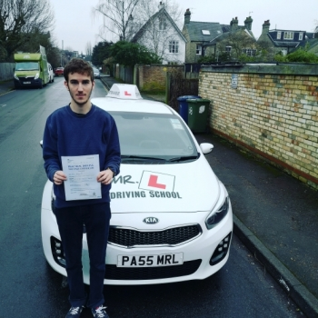 Congratulations to David Kovalenko from Cambridge who passed on the 23-1-20 after taking driving lessons with MR.L Driving School.