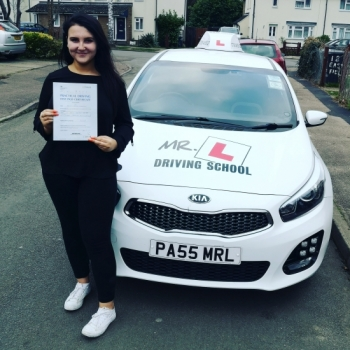 Congratulations to Bobbi Berkshire from Cambridge who passed 1st time on the 4-2-20 after taking driving lessons with MR.L Driving School.<br />
