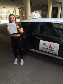 Congratulations to Ella Cooper from Isleham who passed in Cambridge on the 8-9-16 after taking driving lessons with MRL Driving School