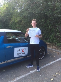 Congratulations to Jack Mears from Mildenhall who passed in Cambridge on the 9-9-16 after taking driving lessons with MRL Driving School