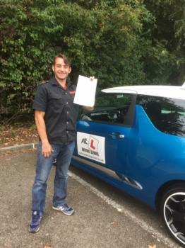 Congratulations to James Shevlin who passed in Cambridge on the 16-9-16 after taking driving lessons with MRL Driving School