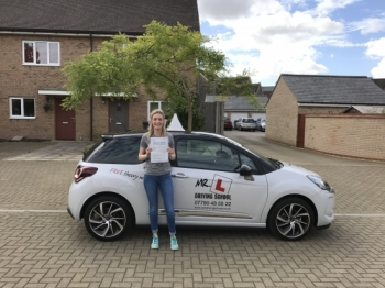 Congratulations to Laura who passed in Cambridge on the 25-9-16 after taking driving lessons with MRL Driving School