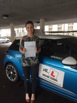 Congratulations to Jade London from Fordham who passed in Cambridge on the 10-11-16 after taking driving lessons with MRL Driving School