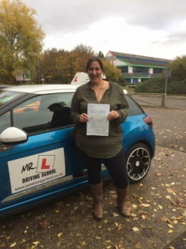 Congratulations to Carly Jacobs from Newmarket who passed 1st time in Cambridge on the 17-11-16 after taking driving lessons with MRL Driving School