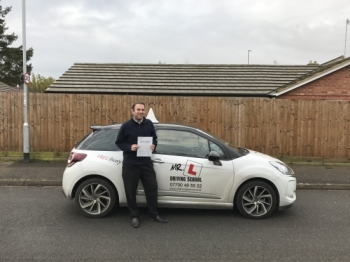 Congratulations to Geoff Redpath from Newmarket who passed in Cambridge on the 12-12-16 after taking driving lessons with MRL Driving School