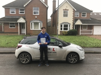 Congratulations to Jay Preston from Newmarket who passed his driving test 1st time in Cambridge on the 16-12-16 after taking driving lessons with MRL Driving School
