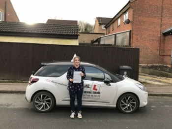 Congratulations to Hannah from Bar Hill who passed 1st time in Cambridge on the 11-1-17 after taking driving lessons with MRL Driving School