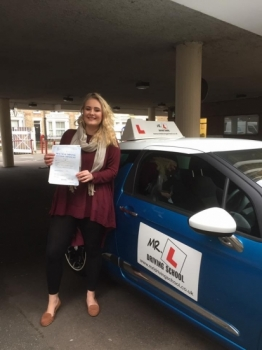 Congratulations to Charlotte from Newmarket who passed in Cambridge on the 9-1-17 after taking driving lessons with MRL Driving School