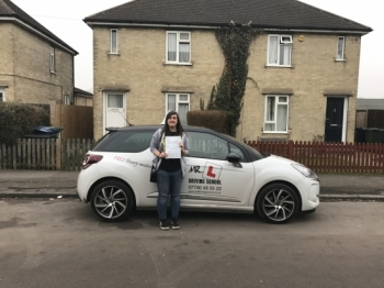 Congratulations to Fay Saunders from Cambridge who passed with just 2 minor faults on the 26-1-17 after taking driving lessons with MRL Driving School