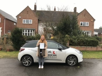 Congratulations to Jess from Newmarket who passed in Cambridge on the 10-2-17 after taking driving lessons with MRL Driving School