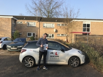 Congratulations to Kacper Płecha from Cambridge who passed 1st time on the 14-2-17 after taking driving lessons with MRL Driving School