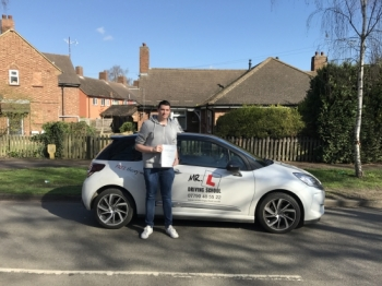 Congratulations to Adam Holland from Cambridge who passed 1st time on the 15-3-17 with just 2 driving faults after taking driving lessons with MRL Driving School