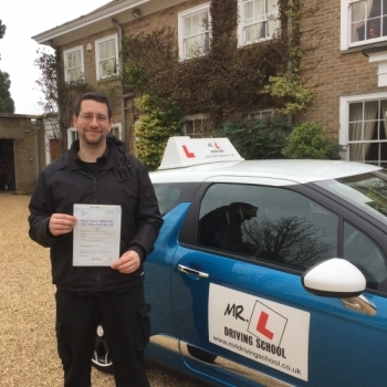 Itacute;s not very often someone travels from Portugal to specifically use a driving instructor but thatacute;s exactly what Andy did Andy passed in Cambridge on the 16-3-17 after taking driving lessons with MRL Driving School