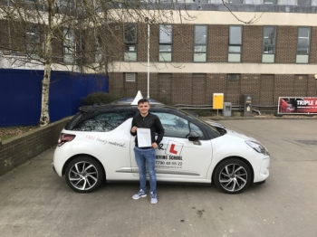 Congratulations to Victor from Newmarket who passed his test on the 22-3-17 in Cambridge after taking driving lessons with MRL Driving School