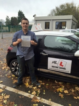 Congratulations to Jarrad Rippin from Aldreth near Ely who passed 1st time in Cambridge on the 13-11-15 after taking driving lessons with MRL Driving School