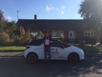 Congratulations to Marc from Burwell who passed in Cambridge on the 30-9-15 after taking driving lessons with MRL Driving School