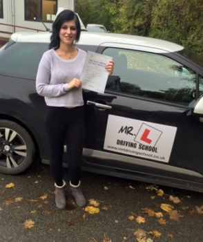Congratulations to Pamela Jablonska from Ely who passed in Cambridge on the 30-10-15 after taking driving lessons with MRL Driving School