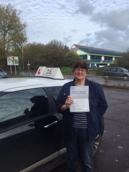 Congratulations to Pauline Fiebig from Soham who passed 1st time in Cambridge on the 25-11-15 after taking driving lessons with MRL Driving School