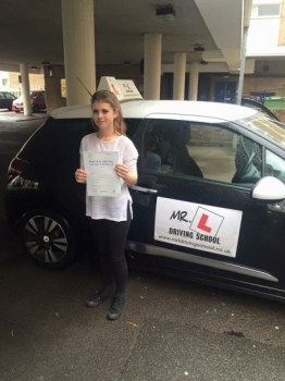 Congratulations to Rhianne Thresh from Huntingdon who passed 1st time in Cambridge on the 4-11-15 after taking driving lessons with MRL Driving School