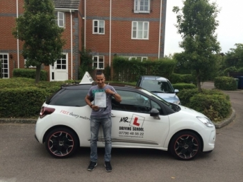 Congratulations to Zac from Cambridge who passed 1st time on the 3-7-15 after taking driving lessons with MRL Driving School