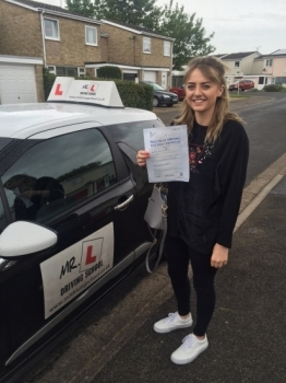 Congratulations to Laura from Littleport who passed 1st time in Cambridge on the 18-5-16 after taking driving lessons with MRL Driving School