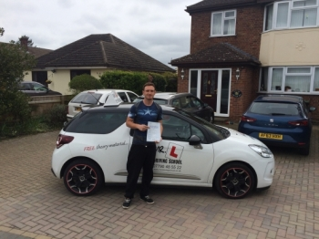 Congratulations to James Bursford from Burwell who passed 1st time in Bury St Edmunds on the 22-4-16 after taking driving lessons with MRL Driving School