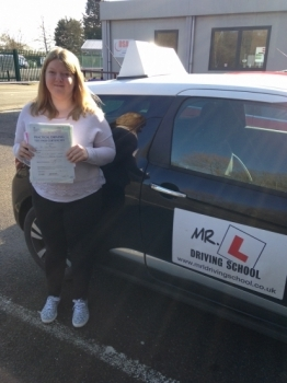 Congratulations to Fay from Littleport who passed 1st time in Cambridge on the 7-3-16 after taking driving lessons with MRL Driving School