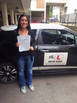 Congratulations to Marina from StIves who passed 1st time in Cambridge on the 8-8-16 after taking driving lessons with MRL Driving School