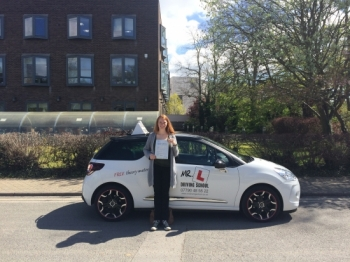 Congratulations to Renee from Ely who passed 1st time in Cambridge on the 3-5-16 after taking driving lessons with MRL Driving School