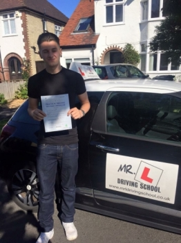 Congratulations to Lewis from Ely who passed in Cambridge on the 13-7-16 after taking driving lessons with MRL Driving School