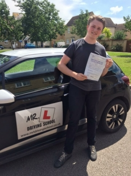 Congratulations to Alex from Godmanchester who passed 1st time in Cambridge on the 30-6-16 after completing a one week course with MRL Driving School