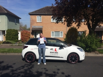 Congratulations to Clare from Newmarket who passed 1st time in Cambridge on the 5-5-16 after taking driving lessons with MRL Driving School