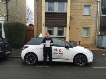 Congratulations to Lil Scott from Cambridge who passed 1st time on the 10-3-16 after taking driving lessons with MRL Driving School