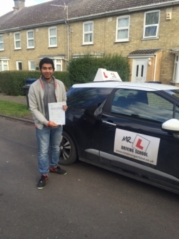 Congratulations to Rayhan Gani from Cambridge who passed on the 24-2-16 after taking driving lessons with MRL Driving School
