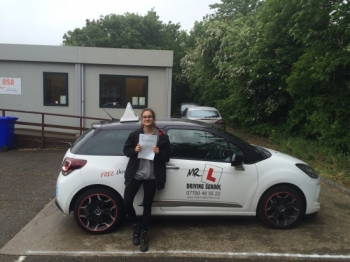 Congratulations to Maria from Cambridge who passed 1st time on the 25-5-16 after taking driving lessons with MRL Driving School