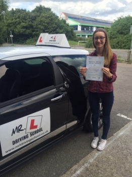 Congratulations to Celine from Soham who passed 1st time in Cambridge on the 5-7-16 after taking driving lessons with MRL Driving School