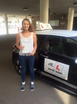 Congratulations to Lauren Overy from Soham who passed 1st time in Cambridge on the 31-8-16 after taking driving lessons with MRL Driving School