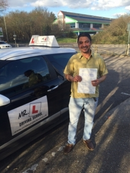 Congratulations to Nava Raj from Cambridge who passed on the 11-2-16 after taking driving lessons with MR.L Driving School....